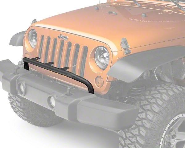 Rugged ridge bumper mounted light bar textured black 07 15 jeep rugged ridge bumper mounted light bar textured black 07 15 jeep wrangler jk aloadofball Gallery