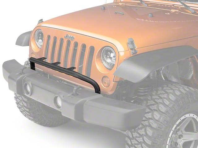 Rugged ridge bumper mounted light bar textured black 07 15 jeep rugged ridge bumper mounted light bar textured black 07 15 jeep wrangler jk aloadofball Choice Image